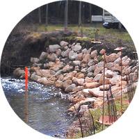 Protection des berges par enrochement