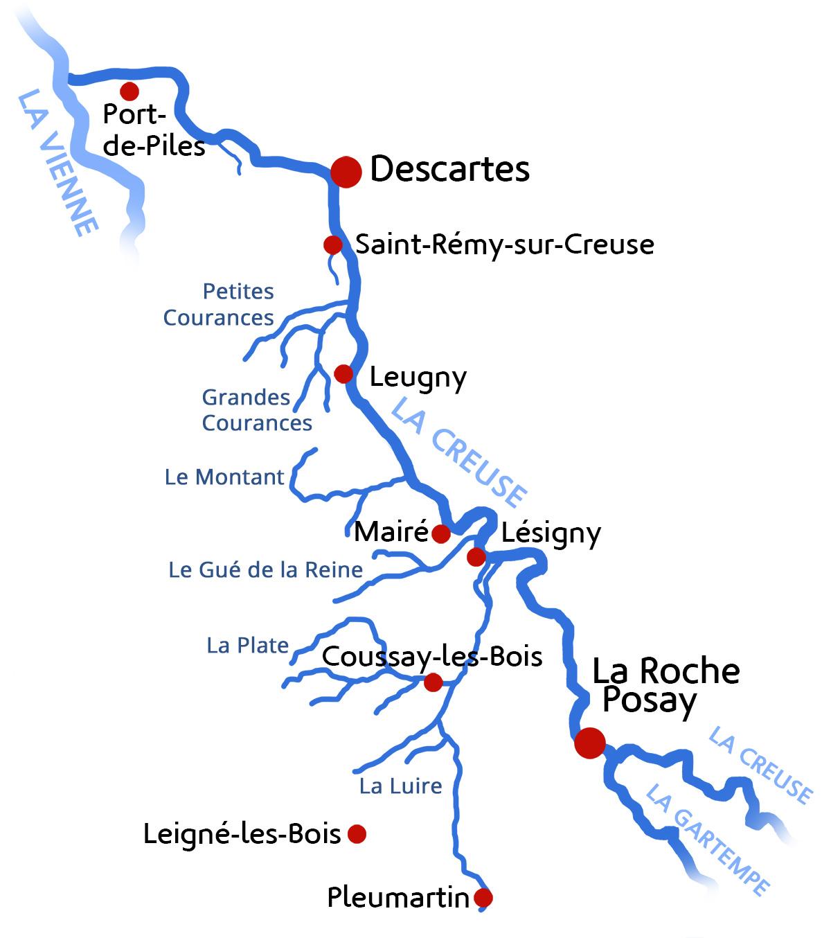 La Creuse et ses affluents
